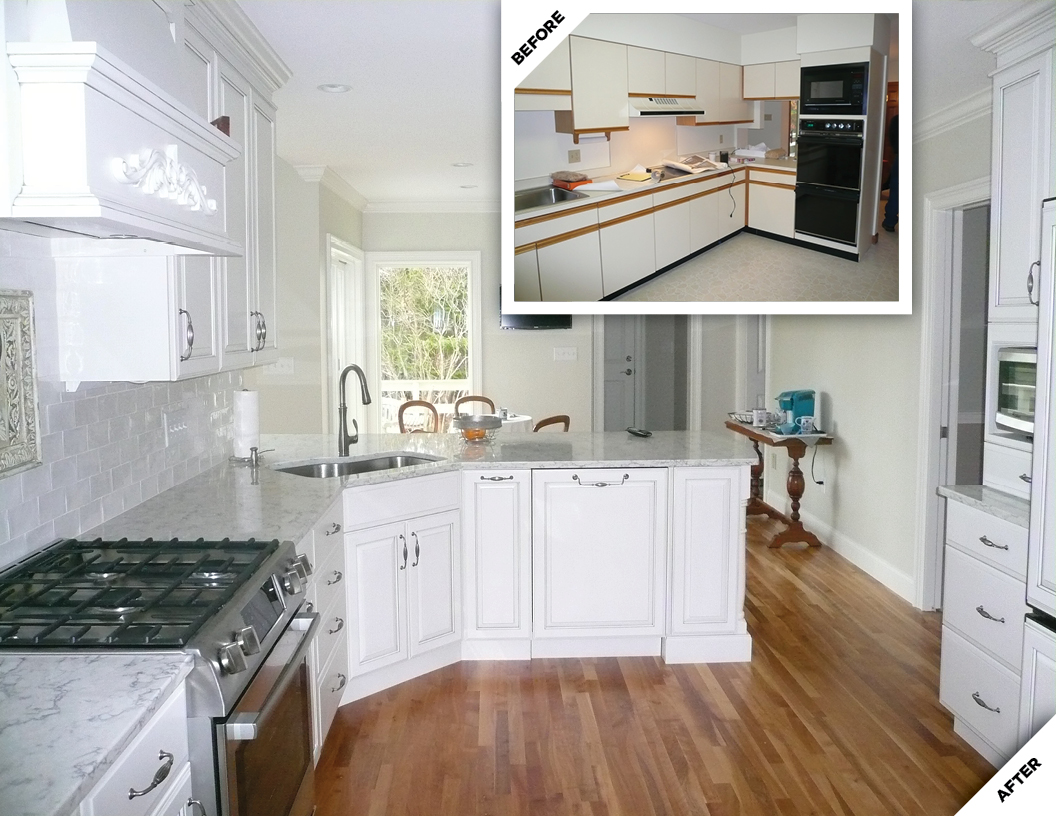 Kitchen Before and After Renovation