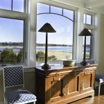 Dining window at Pine Point, Custom Home Construction in Southern Maine