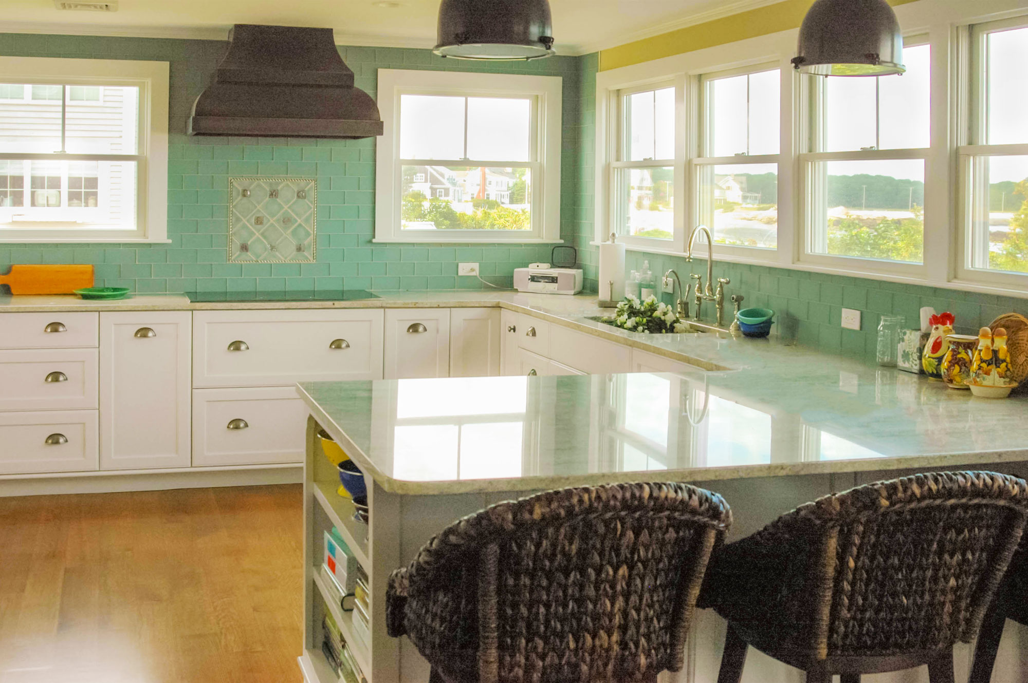 Kitchen at Granite Point, Custom Home Construction in Southern Maine