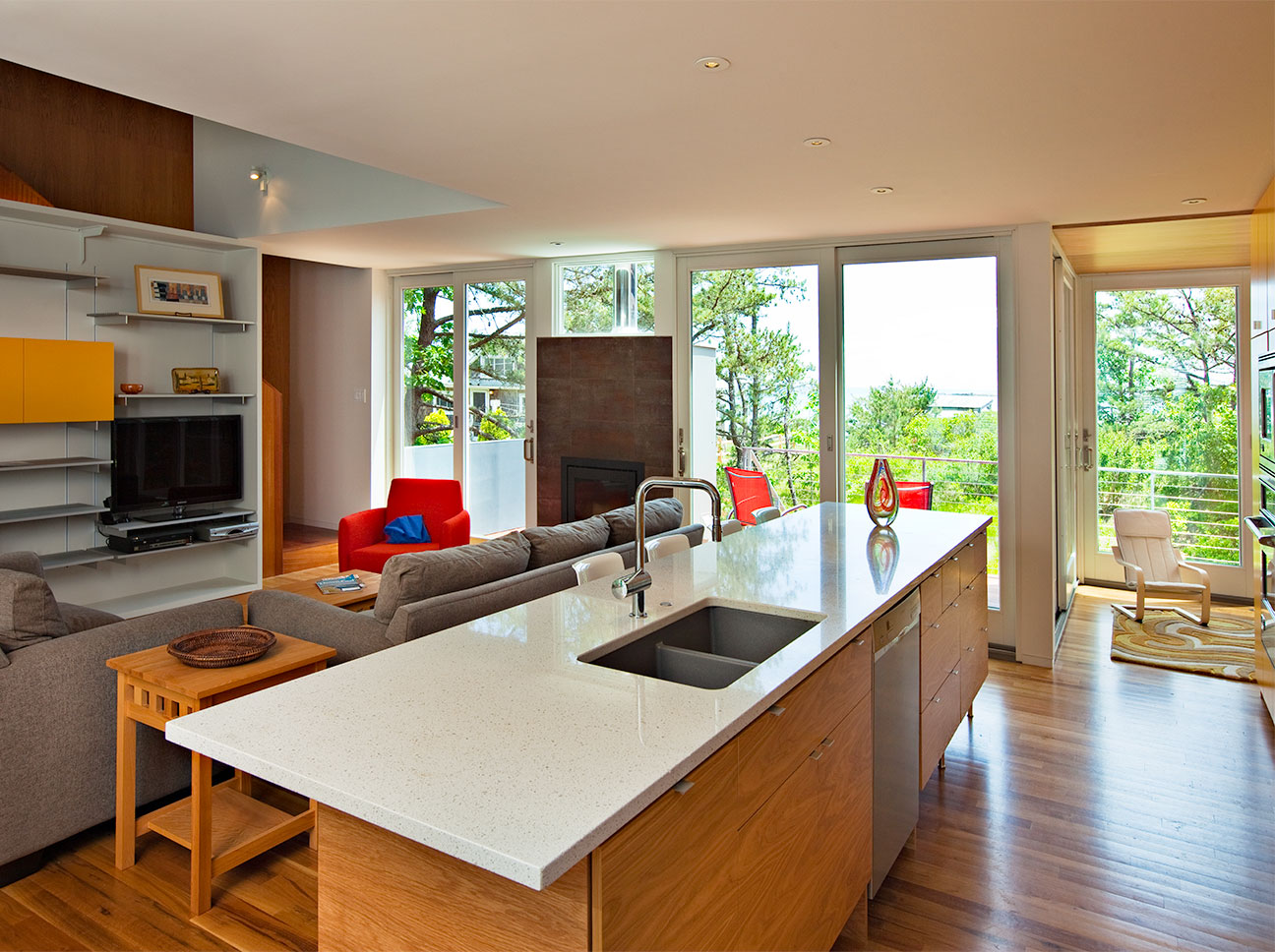 Douston-Featured1-Modern Kitchen and Living Room