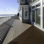 Back deck at Pine Point, Custom Home Construction in Southern Maine
