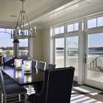 Dining room at Pine Point, Custom Home Construction in Southern Maine