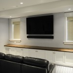 Entertainment room at Pine Point, Custom Home Construction in Southern Maine