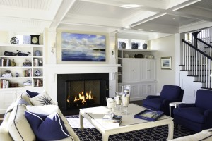 Livingroom at Pine Point, Custom Home Construction in Southern Maine