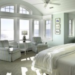 Master bedroom at Pine Point, Custom Home Construction in Southern Maine