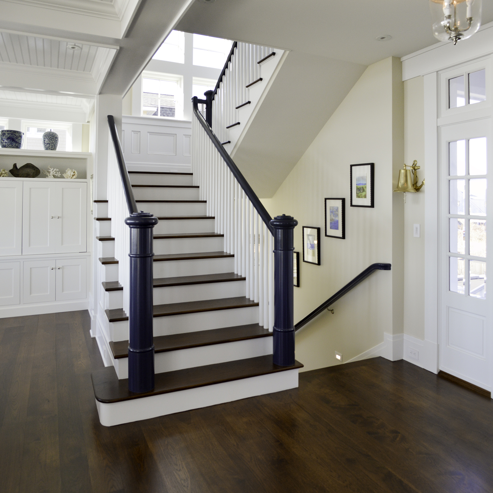 Staircase at Pine Point, Custom Home Construction in Southern Maine