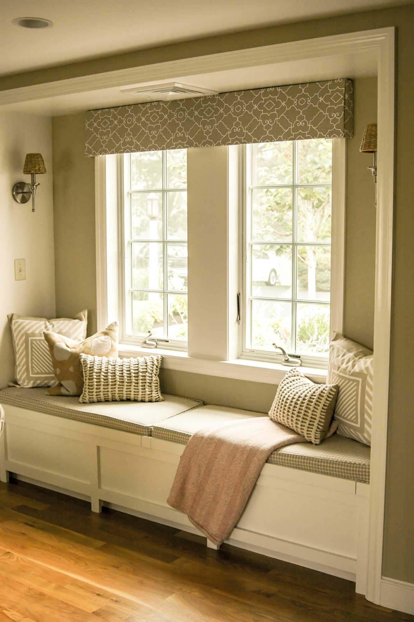 Clubhouse Window Seat Bedroom, Custom Home Construction in Southern Maine