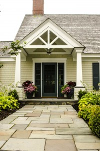 Clubhouse Exterior Entry, Custom Home Construction in Southern Maine