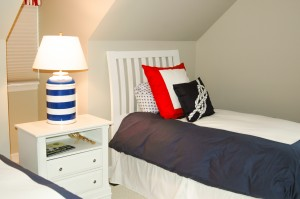Clubhouse Bedroom, Custom Home Construction in Southern Maine