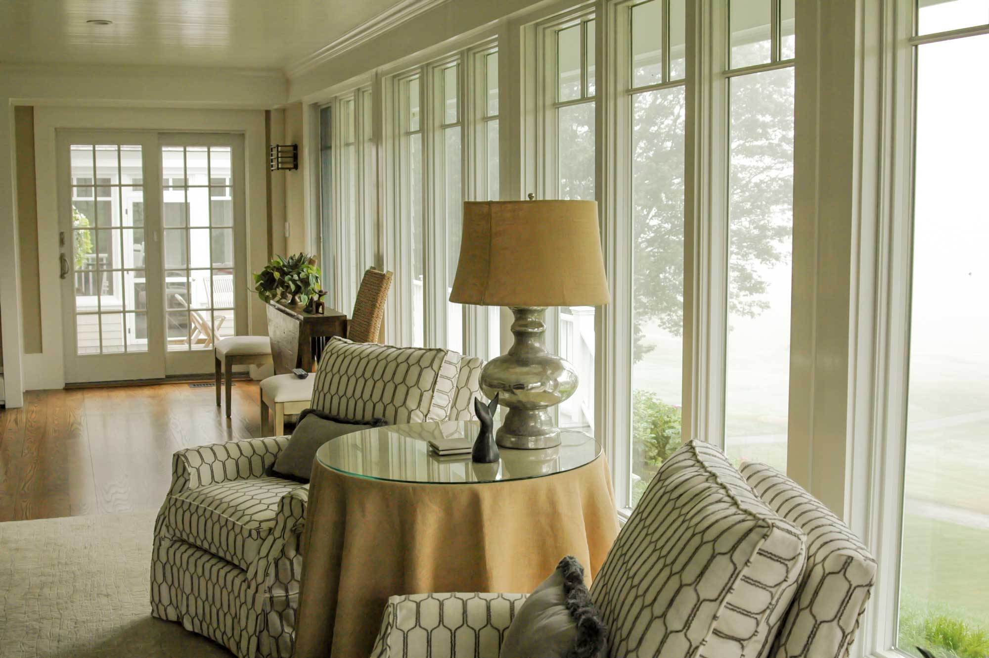 Clubhouse Family Room, Custom Home Construction in Southern Maine