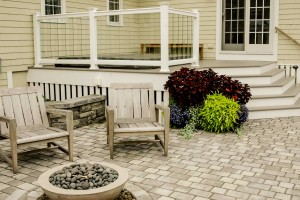Clubhouse Patio, Custom Home Construction in Southern Maine