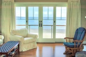 Master Bedroom Deck at Granite Point, Custom Home Construction in Southern Maine