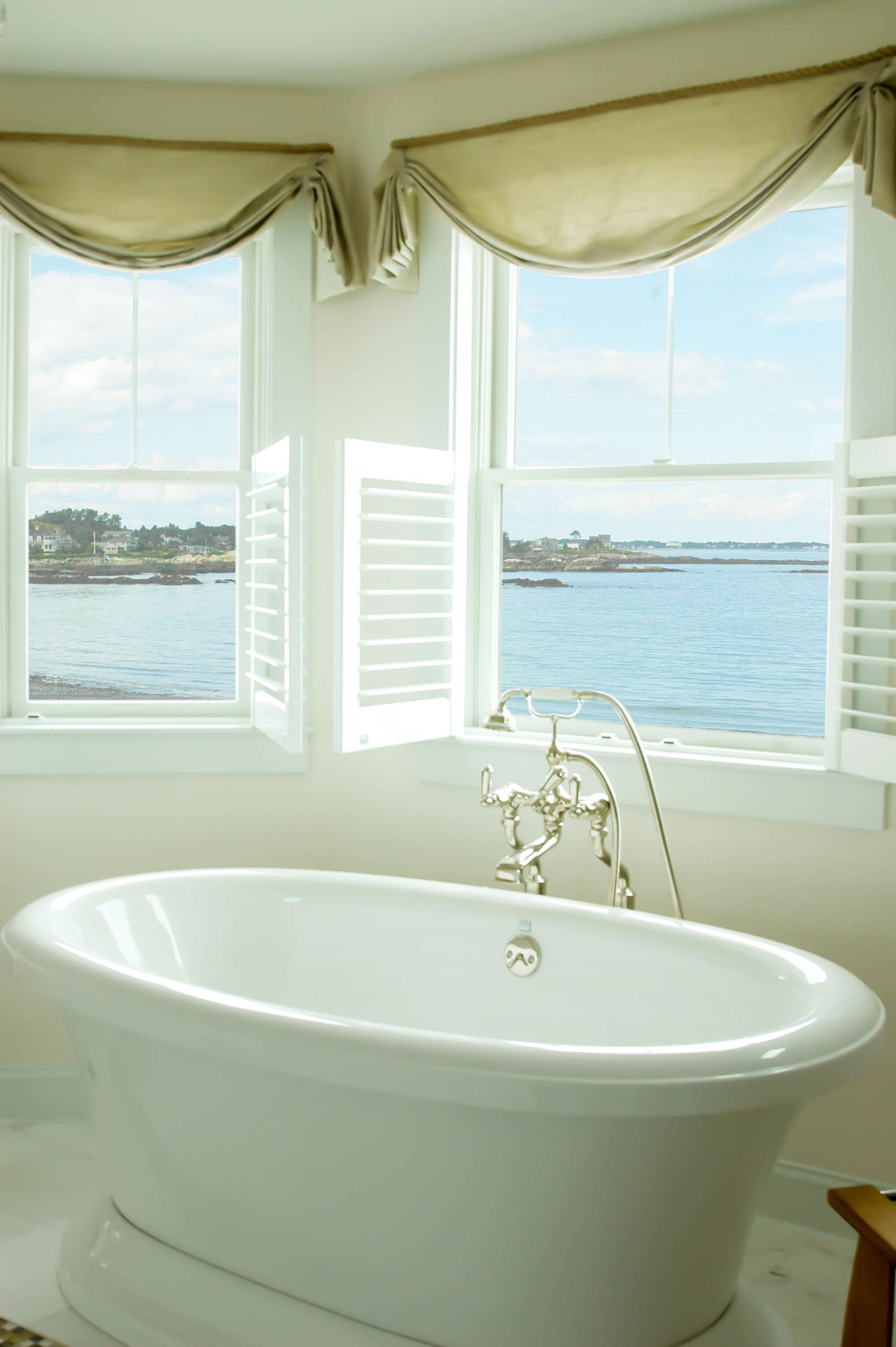Master Bath At Granite Point Custom Home Construction In Southern Maine
