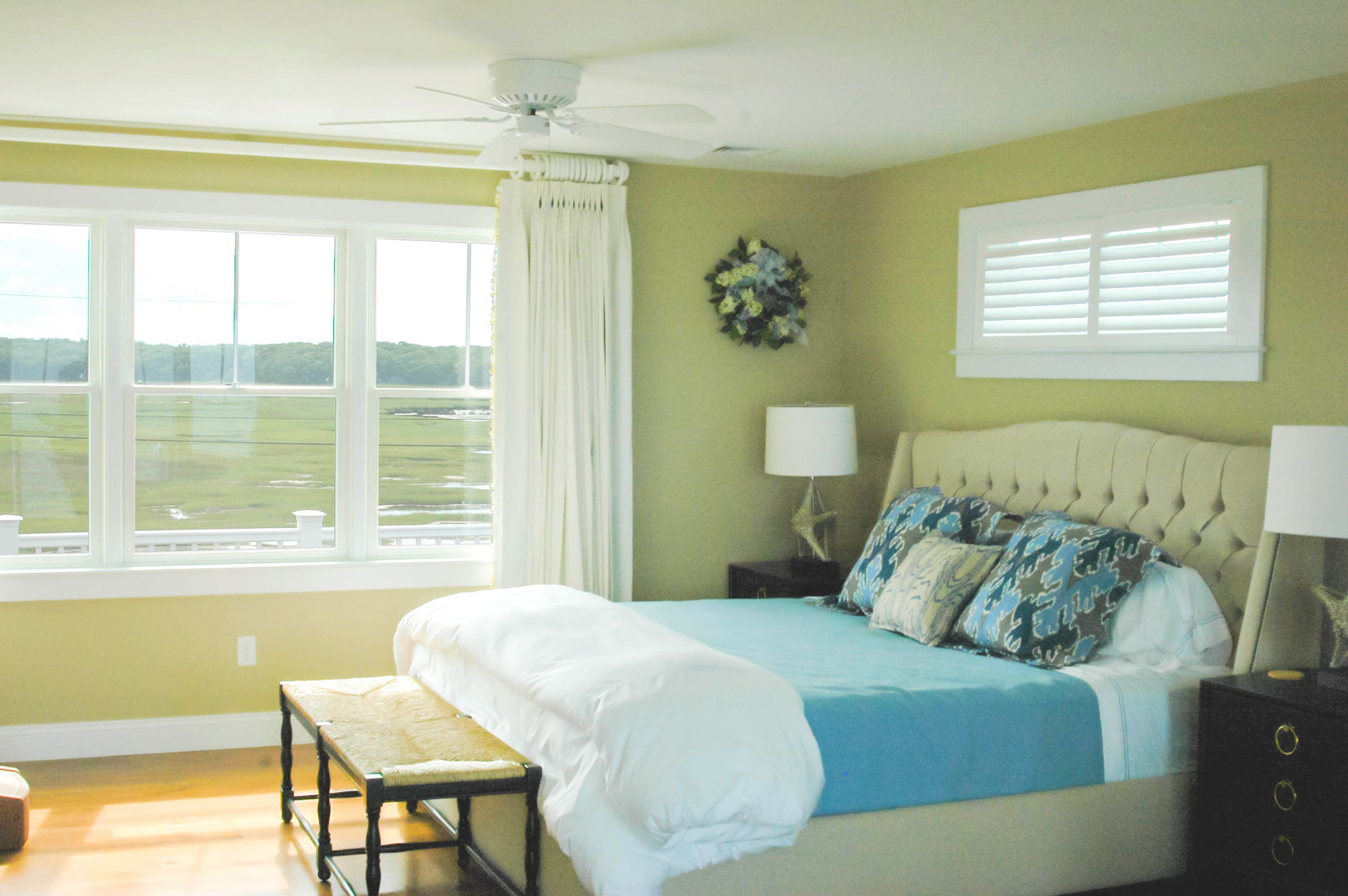 Bedroom at Granite Point, Custom Home Construction in Southern Maine