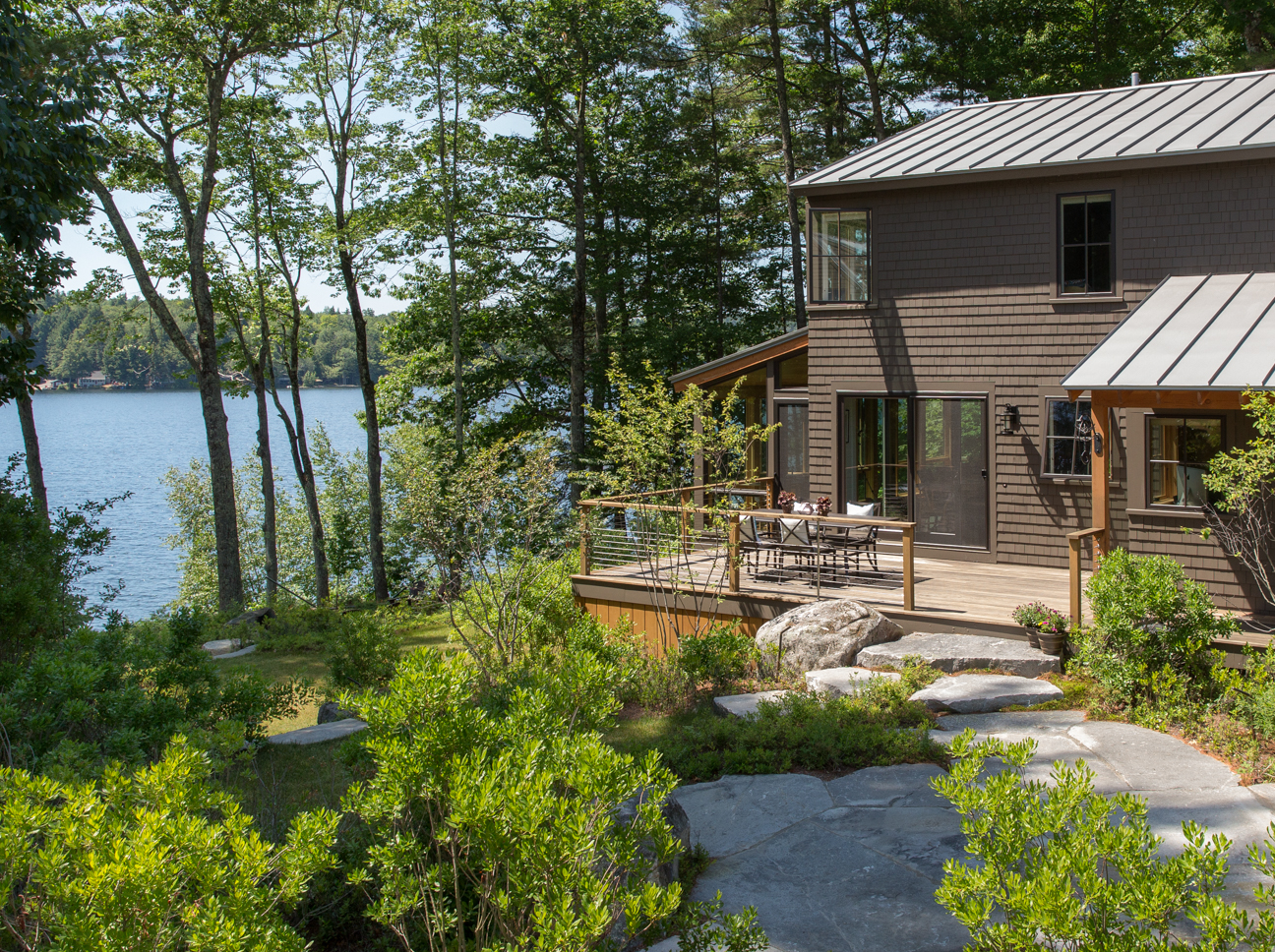 Great East Lake Camp Exterior Deck