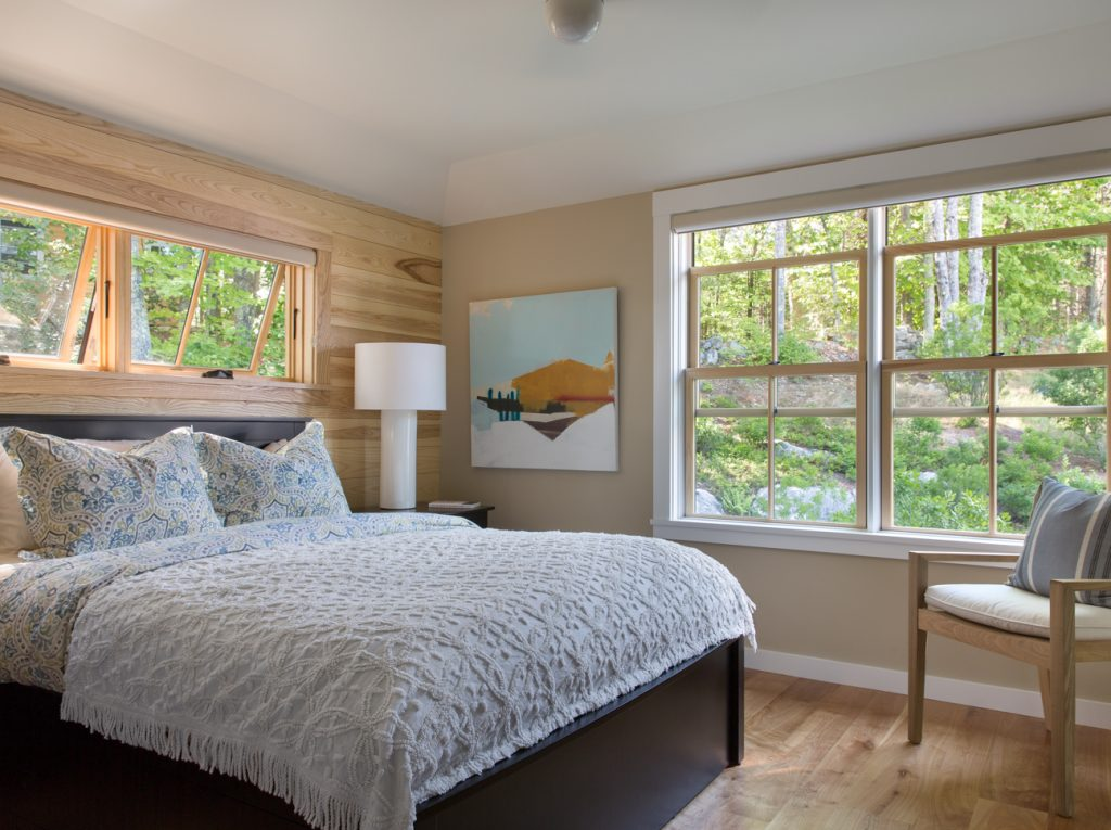Great East Lake Camp Interior Master Bedroom