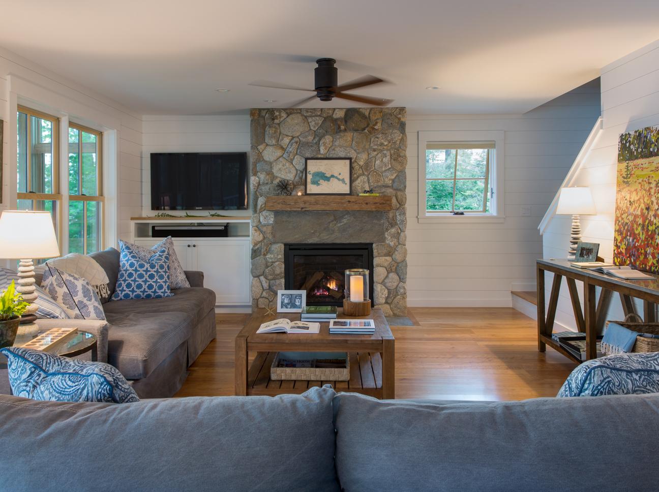 Great East Lake Camp Interior Livingroom