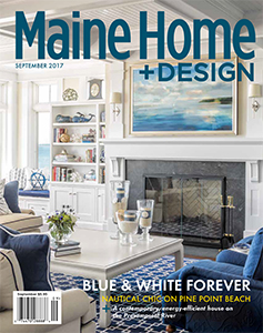 Maine Home + Design A Tale of Two Houses: A Beachside Shingle-Style with Nautical Flair