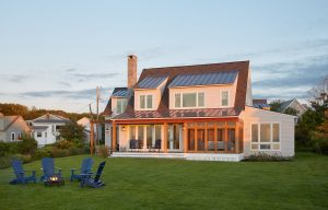 Firepit and Beachside Lawn, Custom Home Construction in Southern Maine
