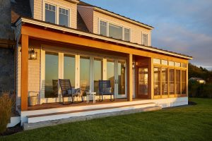 Beachside Porch, Custom Home Construction in Southern Maine