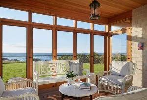 Sunroom, Custom Home Construction in Southern Maine