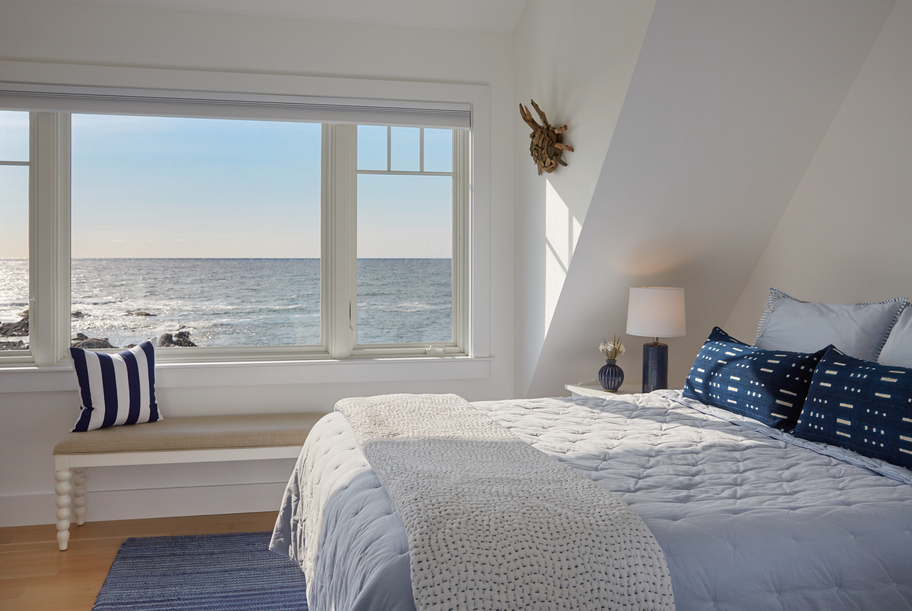 Bedroom, Custom Home Construction in Southern Maine