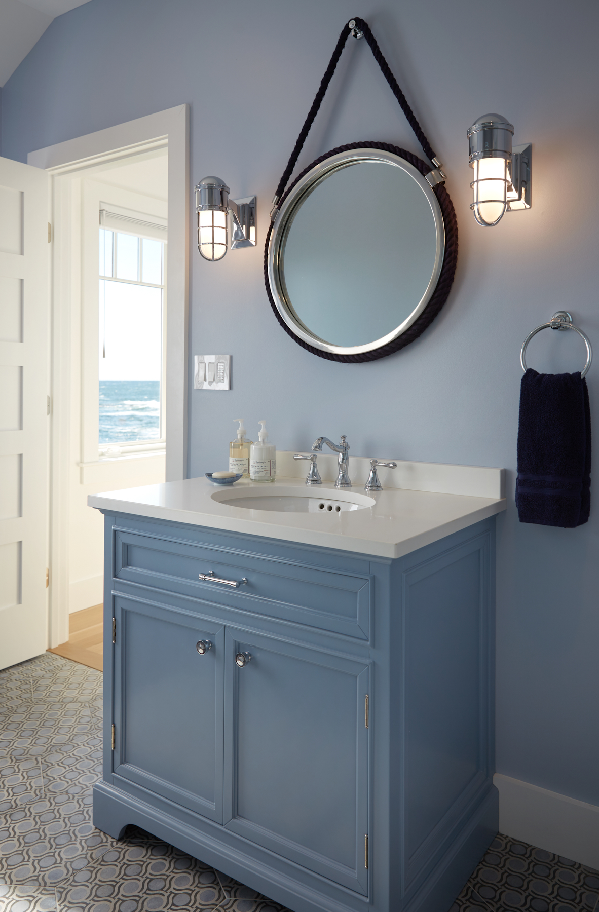 Bathroom, Custom Home Construction in Southern Maine