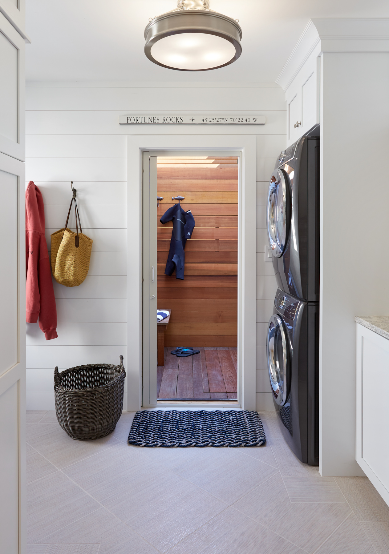 Laundry, Custom Home Construction in Southern Maine