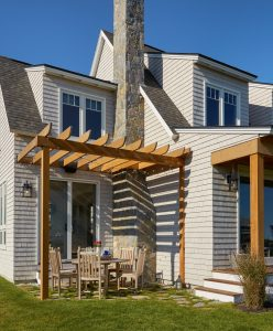 Pergola, Custom Home Construction in Southern Maine