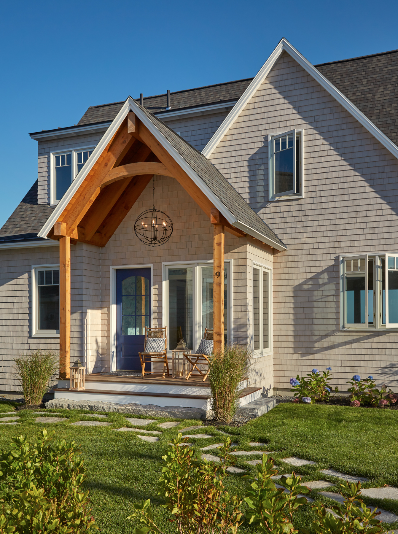 Entry, Custom Home Construction in Southern Maine