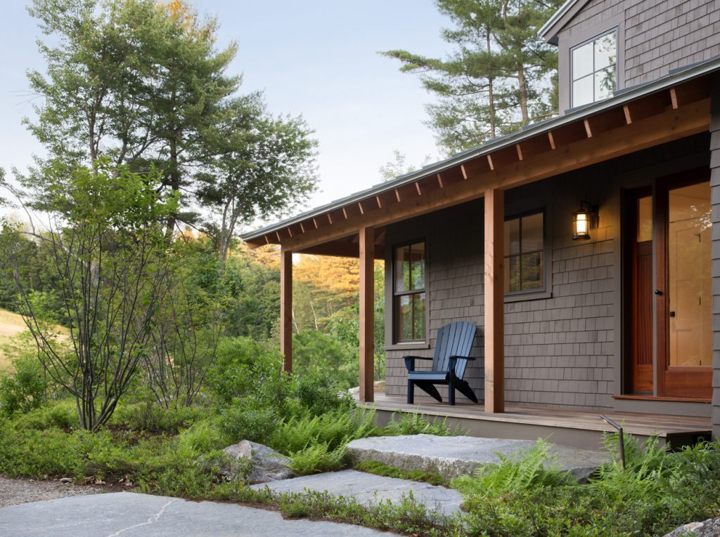 Porch, Custom Home Construction in Southern Maine